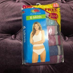 7 pc bikini underwear size 5